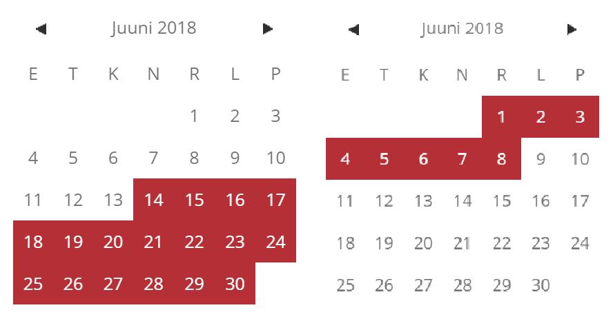 väikebuss kalender